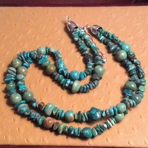Jewelry - 😍Turquoise Multi-stone Two Strand Necklace😍